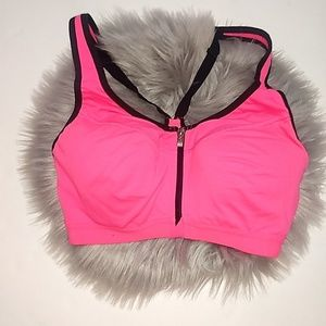 VSX Sport Bright Pink Front Zipper Sports Bra 32C